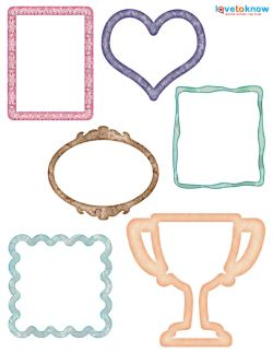Free printable scrapbook frames!
