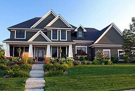 Plan w14503rk southern sloping lot corner lot for Southern craftsman house plans