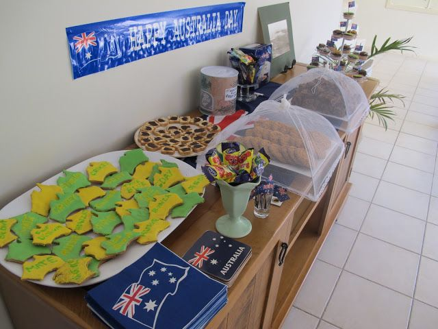 Australia day snacks and food ideas.