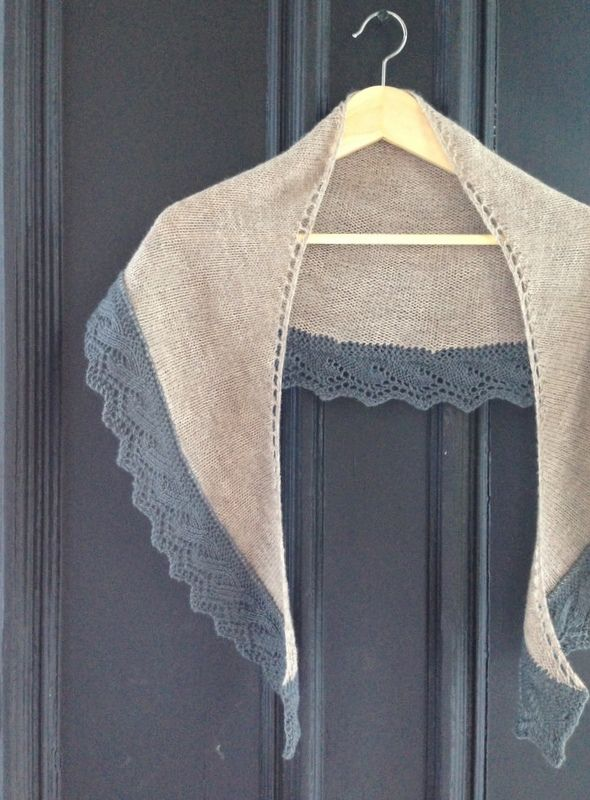 Welcome back to Free Pattern Friday, a fresh, new, free pattern every week! Today's offering: The Wilson Wrap, a simple semi-circular shawl with an elegant lace border.