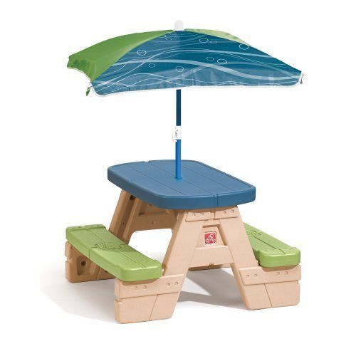 Picnic Table For Children With Umbrella Step2 Sit And Play  | Home & Garden, Kids & Teens at Home, Furniture | eBay!