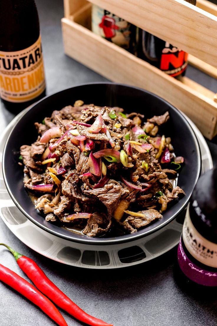 Ilocano style dish made with medium rare stir fried beef on garlic, onion, ginger and vinegar. #Imbaliktad