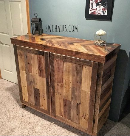 Rustic Liquor Cabinet By Serenitywoodwork On Etsy
