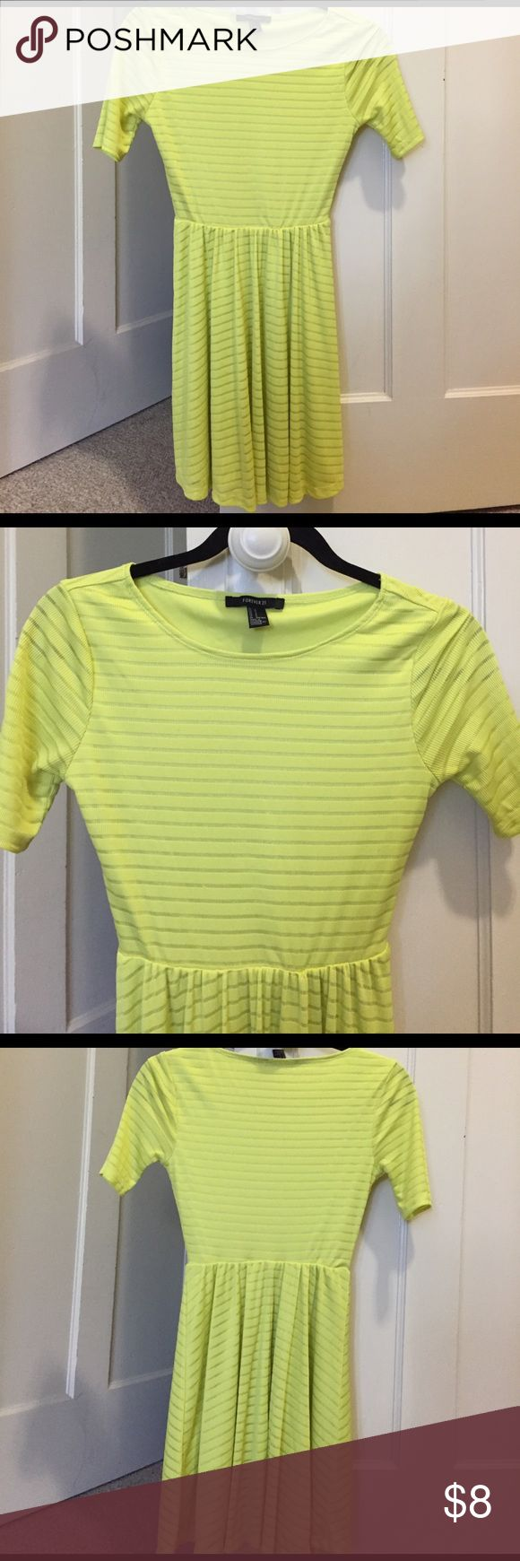 Neon yellow/lime green pretty dress in Small Neon yellow/lime green pretty dress in Small Forever 21 Dresses
