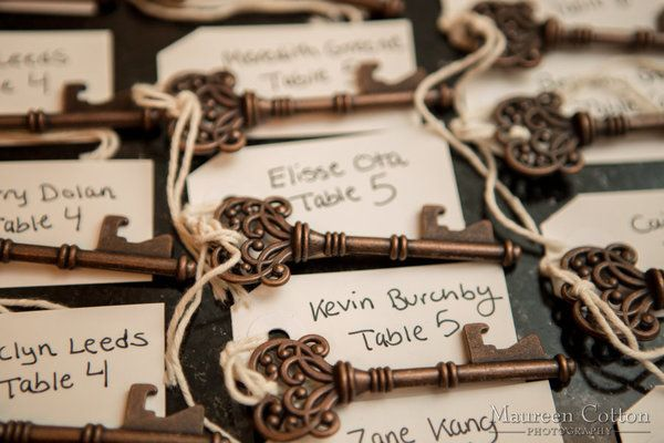 Give your guests bottle openers for a fantastic wedding favor | Maureen Cotton Photography