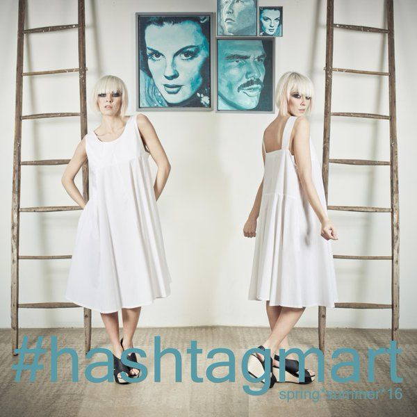 Simply a White Dress, but soooo lovely! Play with your accessories to customize it and dress it tastefully. #SS2016 #Hashtagmart #musthave #style #fashion #accessories #girly #golook. Discover more on  http://www.hashtag-mart.com/