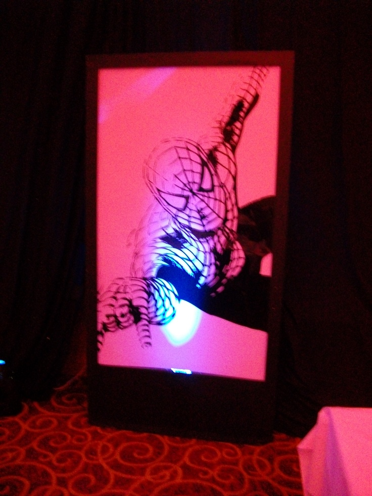 spiderman led silhouette