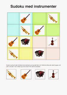 Klassisk musik for børn: Sudoku med musikinstrumenter