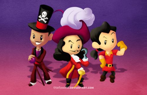 Gaston, Dr. Facilier and Captain Hook