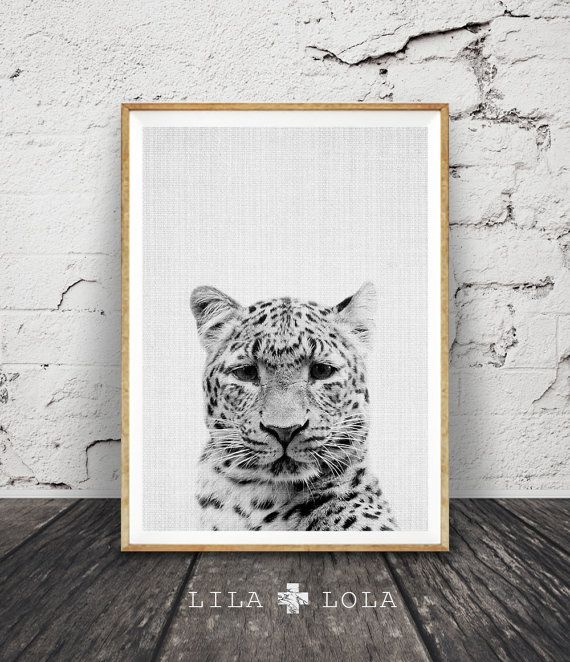 Cheetah Print Safari Nursery Animal Wall Art Black by LILAxLOLA