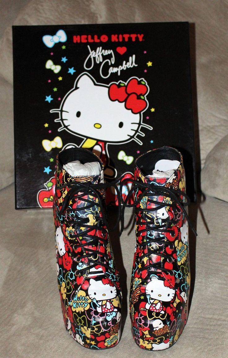 HELLO KITTY 40TH ANNIVERSARY. AUTHENTIC JEFFREY CAMPBELL. SIZE 8. | eBay!