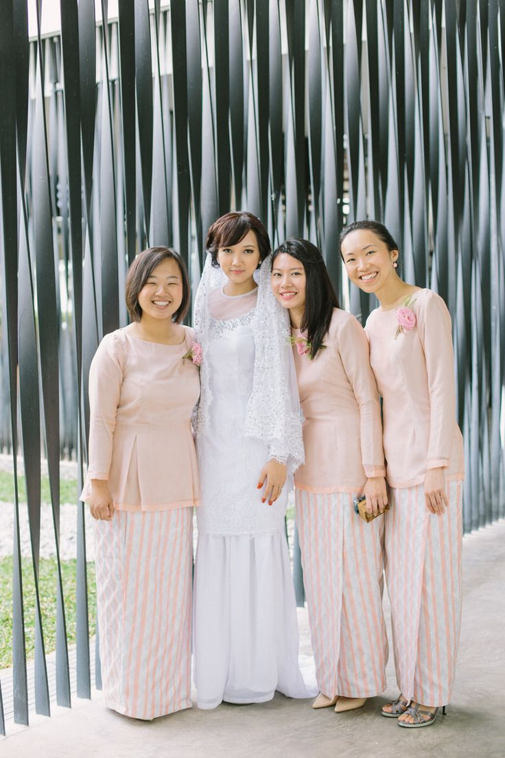 malay bridemaids dresses.