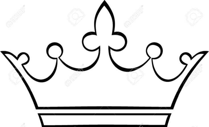 Crown Outline Royalty Free Cliparts