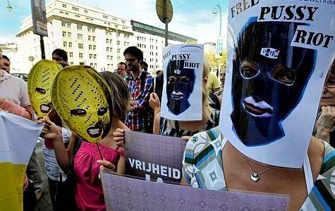 Manifestation de soutien au Pussy Riot, Bruxelles, 17/8/2012