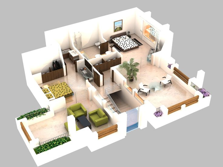 70 best images about 3d plans on pinterest for Conception 3d appartement