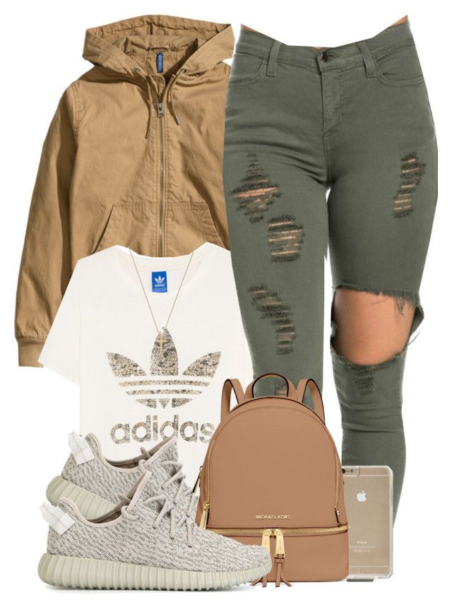 """""""Untitled #531"""" by b-elkstone ❤ liked on Polyvore featuring H&M, adidas Originals, MICHAEL Michael Kors and Gucci"""