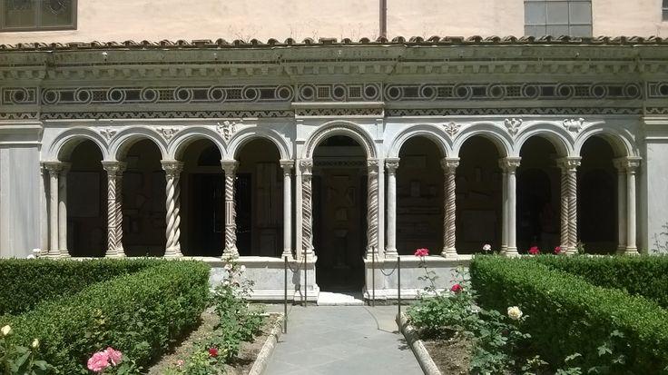 Chiostro, colonnato, Basilica di San Paolo, #Roma