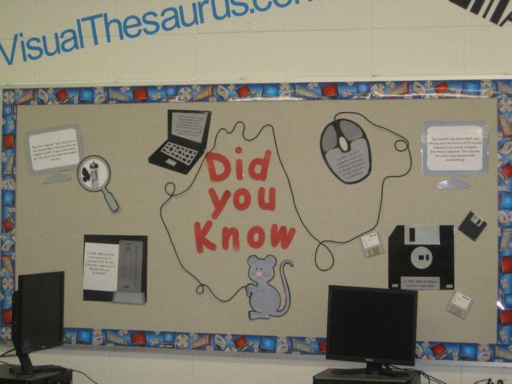 Middle School Computer Lab bulletin board