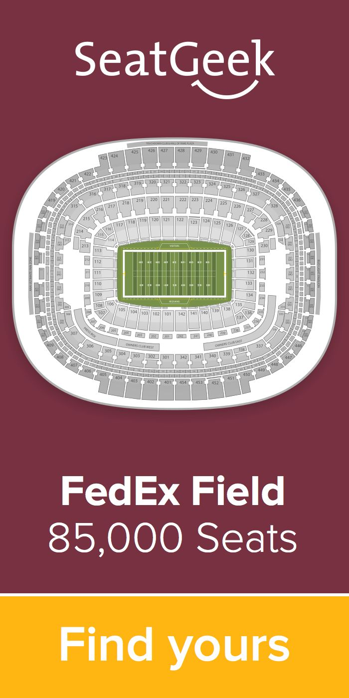The best deals for Redskins tickets are on SeatGeek!