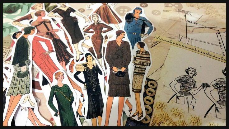 Vintage Fashion,Die-Cut Ephemera Paper Collage Scrapbook Journal Decoupage