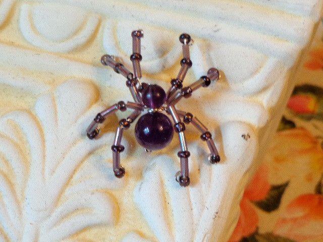Spinne+Pin+Amethyst+von+Heikes+Lebenskunst+auf+DaWanda.com
