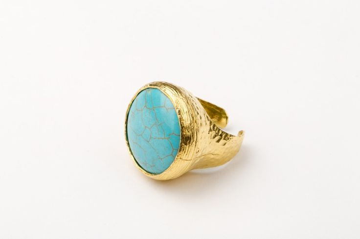 Everlast ring_Turquoise - Gold plated