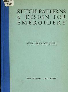 """""""Stitch Patterns & Design For Embroidery"""" (1929); libro para ver en línea, no se puede descargar"""