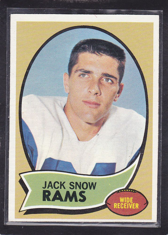 1970  JACK SNOW - Topps Football Card- # 44 - Los Angeles Rams - Vintage  #LosAngelesRams