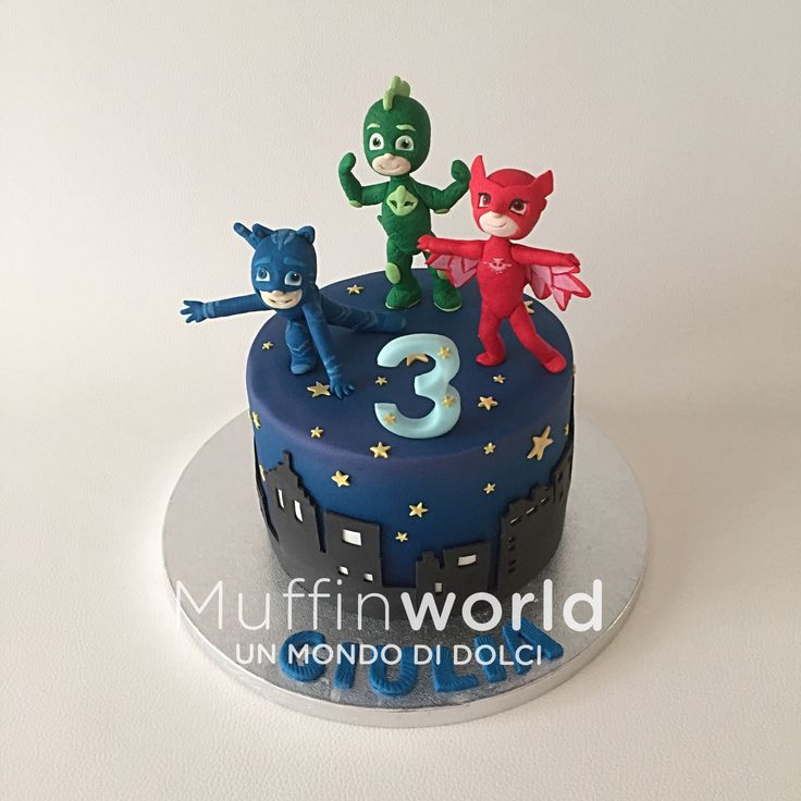 Torta per bambini pigiamini PJ mask cake for children