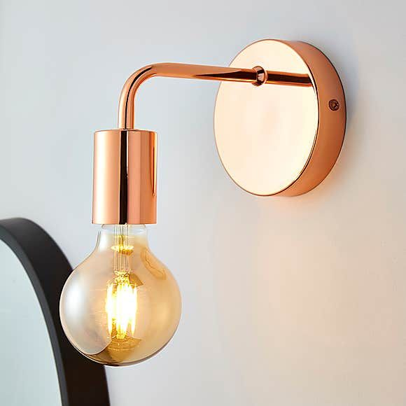 Adonis Copper Wall Light In 2020 Copper Wall Light Wall Lights Wall Mounted Light