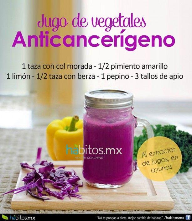 Jugo de vegetales especial para prevenir el cáncer….