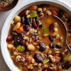 Southwestern Three-Bean & Barley Soup - EatingWell.com