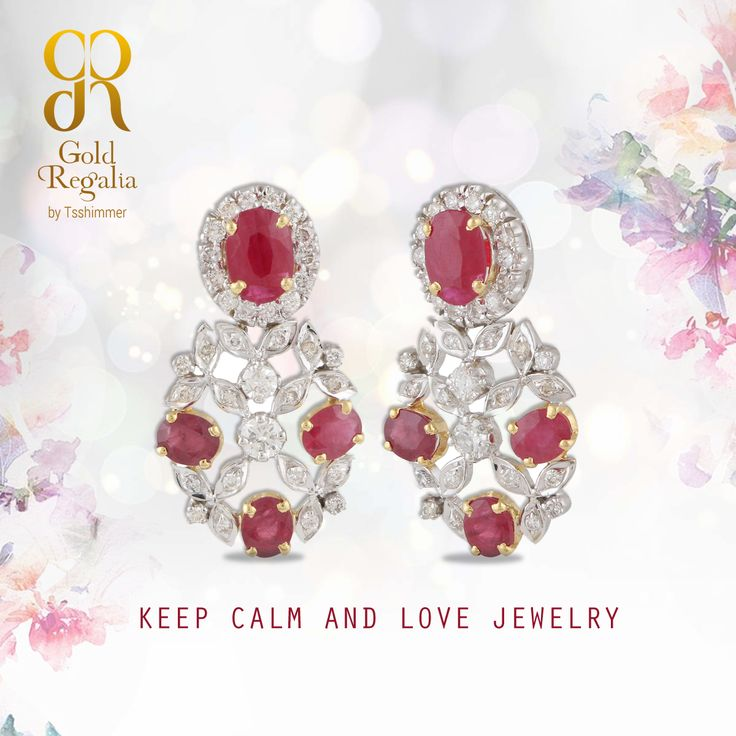 Keep calm and love #jewelry..!  Best collection by Gold Regalia  For this products specification visit: http://goo.gl/I7MKmm  #DiamondJewelry #DiamondEarring #Earrings #OnlineJewelry