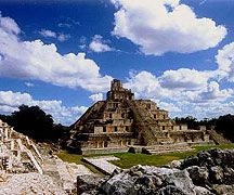 Mayan ruins in Campeche, Mexico