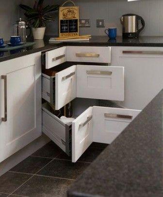 DIY Corner Kitchen Drawers