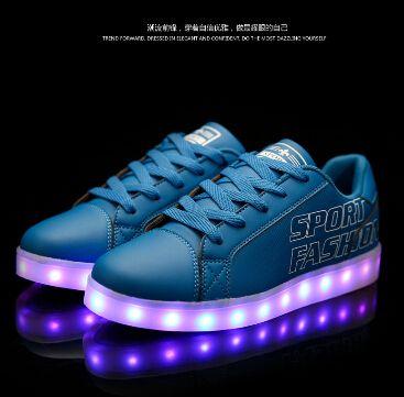 Из светодиодов светящиеся обувь мужчин освещенные кроссовки бренд свободного покроя искусственная кожа спортивные кроссовки квартиры светящиеся USB зарядки подсветкой кроссовки