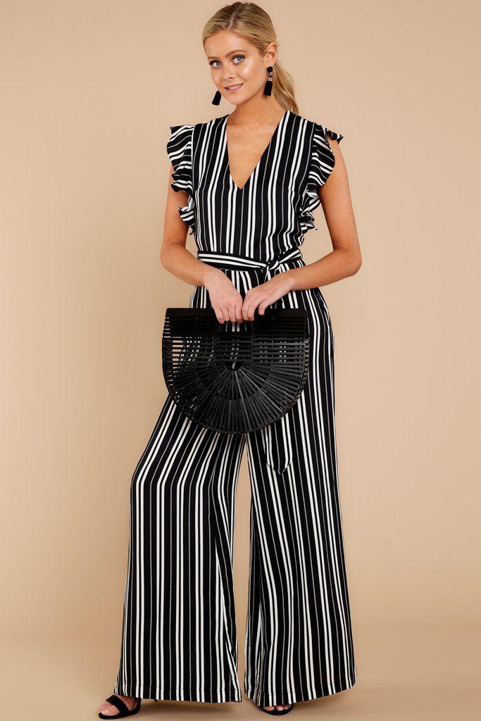 e492304ce56 Stunning Black Jumpsuit - Black Striped Playsuit - Jumpsuit -  54.00 – Red  Dress Boutique