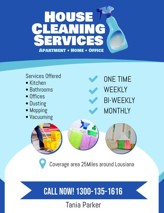 Cleaning Service Flyer Design
