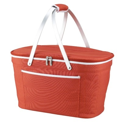 Picnic At Ascot Collapsible Basket Cooler in Orange - 400OR
