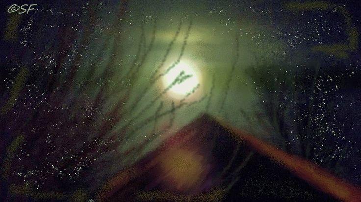 """Indian moon"" digital art by Shelli Fitzpatrick"