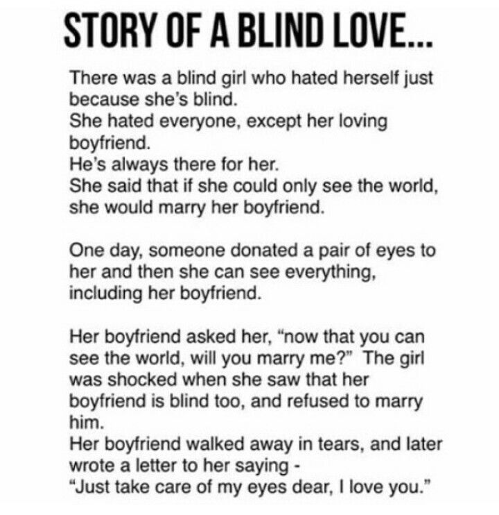 i do hope that she regrets her step and will walk báck to him, he Shares his eyes with her , they,could  now both look on life and have a great time. so sad