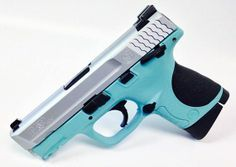 This is a Smith & Wesson M&P40 Compact pistol that has been refinished in Tiffany blue and silver! Pick up yours today! - www.tzarmory.com