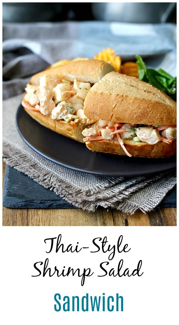 Thai Style Shrimp Salad Sandwiches Recipe Shrimp Salad Sandwich Shrimp Salad Sandwiches