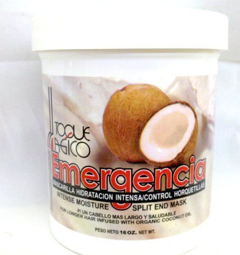Intense Moisture Split End Mask 16 oz. by Toque Magico Emergencia. $7.99. Helps hair grow longer by preventing split ends. Contains Coconut Oil. Intensive Mask Conditioner for Split Ends. Helps prevent dandruff. Split End Mask is formulated in the Caribbean this moisture and antibreakage treatment uses sweet smelling coconut along with other highly effective ingredients that will provide shine and softness to hair.