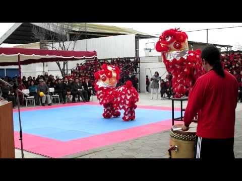 DANZA DEL LEON CHINO - COLEGIO DOMINGO FAUSTINO SARMIENTO COQUIMBO - YouTube