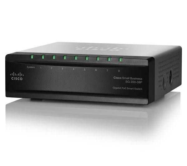 CISCO Small Business Smart Switch SG200-08P - 8 x 10/100/1000 | €149.50