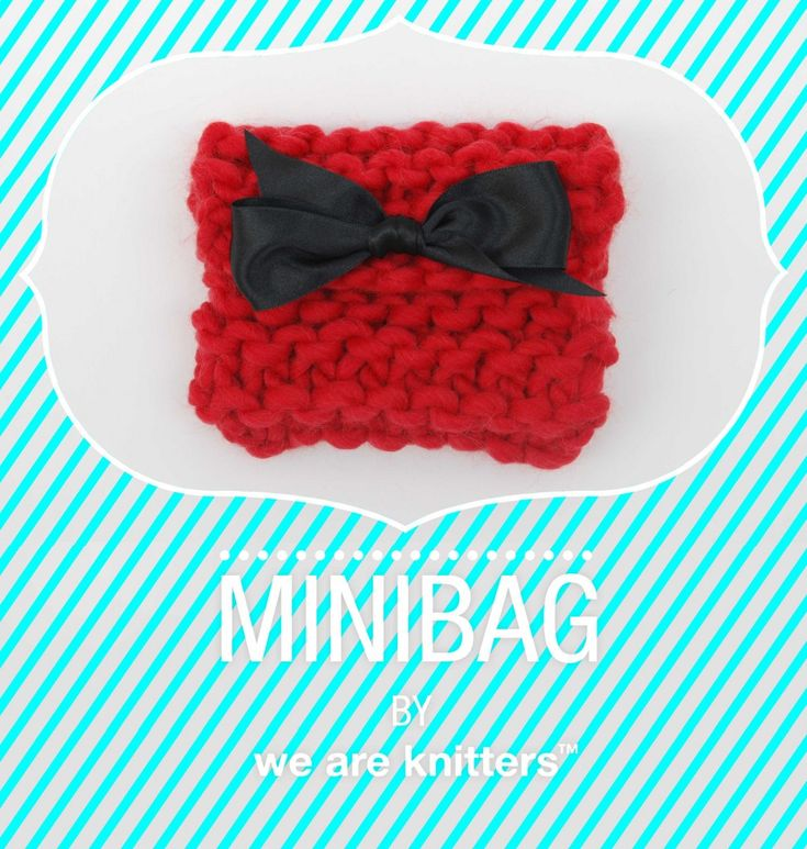 Free pattern to knit a Mini Clutch | We Are Knitters Blog