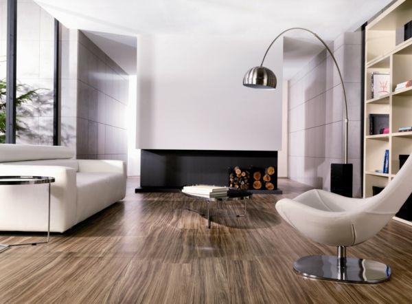 fliesen holzoptik wohnzimmer boden wei er sessel. Black Bedroom Furniture Sets. Home Design Ideas
