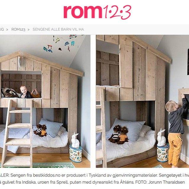 #ShareIG Hyggelig gjensyn med skjønne Gard og trehyttesenga vår i denne utgaven av Rom123.  Denne sengen vil og være utstilt på boligmessen i helgen. Gratis inngangsbillett på nettsiden og Facebooksiden vår.  @rom123egmont #boligmesse#rom123#bestkiddos#hytteseng#barnerom#trehyttesengen