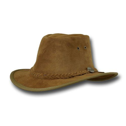 Barmah Hats Adventurer Fedora Leather Hat  1095BL  1095HI  1095RB  1095LM XXLarge Hickory * See this great product.